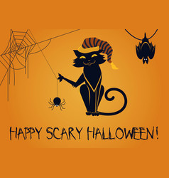 Happy scary halloween vector