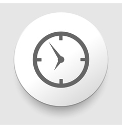 icon clock with shadow vector image vector image