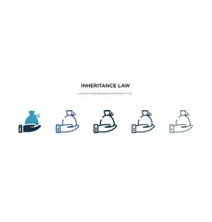 inheritance law icon in different style two vector image