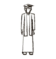 isolated boy with graduation cap design vector image