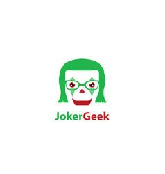 Joker geek logo vector