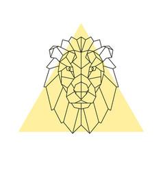 Lion head geometric style vector