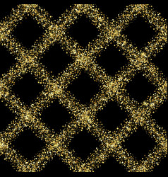 luxury golden glitter diagonal check seamless vector image