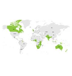 Member states british commonwealth green vector