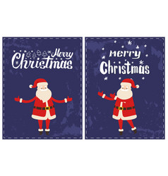 merry christmas santa claus wishes happy holidays vector image
