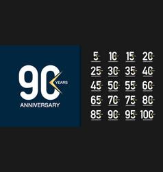 modern geometric anniversary celebration icons vector image