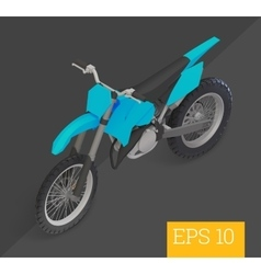 Motocross isometric vector