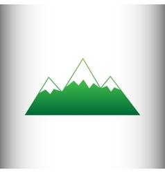 Mountain sign Green gradient icon vector