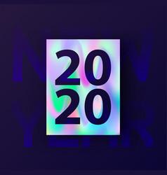 New year card 2020 winter holiday invitation vector