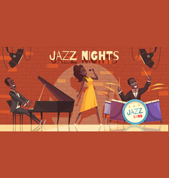 night club jazz background vector image