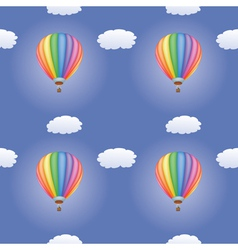 pattern with hot air balloons vector image