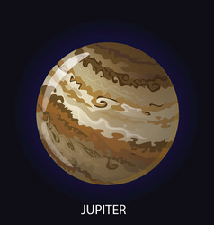 Planet jupiter cartoon vector