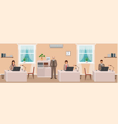 realistic characters of business employee and vector image