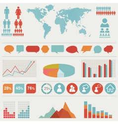Retro infographics set vector image
