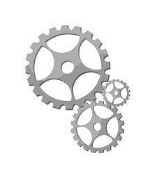 Silver gears vector image