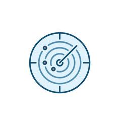 sonar concept round colored icon vector image