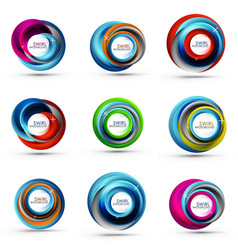 Spiral swirl flowing lines 3d abstract icon vector