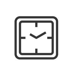square wall clock line style isolated icon vector image