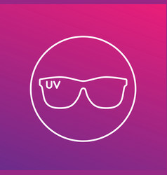 sunglasses uv protection linear icon vector image
