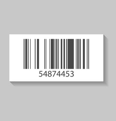 supermarket barcode isolated icon vector image