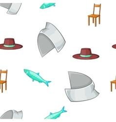 Symbols of Sweden pattern cartoon style vector image