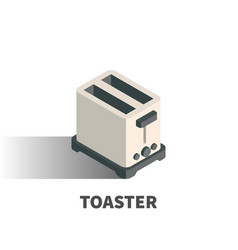 toaster icon symbol vector image