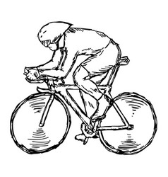 Track cycling competition vector