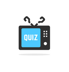 tv quiz button with shadow vector image