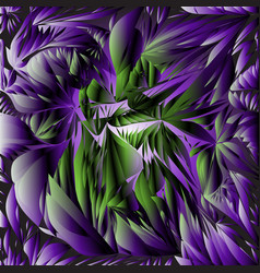 Ultra violet background leaves vector