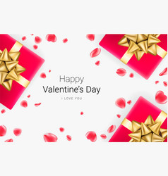 valentines day festive background vector image