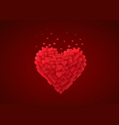 valentines red heart love concept vector image