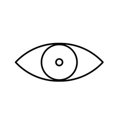 view icon eye symbol vector image