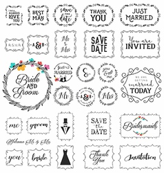Vintage Wedding Frame and Label Collection vector
