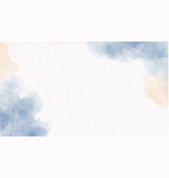 Watercolor navy blue and sand beige brush on vector