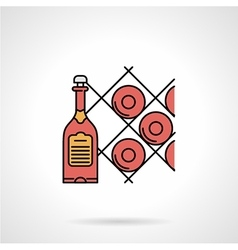 Wine cellar flat color icon vector image