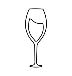 Wine glass isolated icon vector