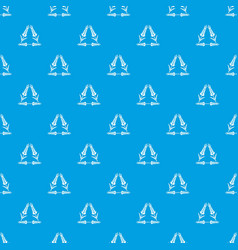 Winter-hardened wheat pattern seamless blue vector
