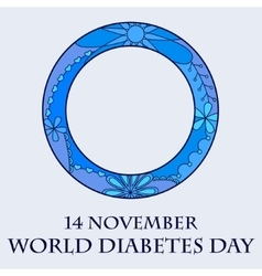 World diabetes day background vector