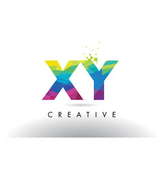 Xy x y colorful letter origami triangles design vector