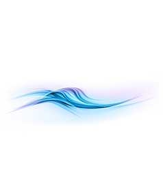 abstract shape blue wave dis vector image vector image