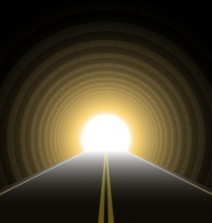 car tunnel vector image vector image
