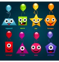 Fun party shapes vector