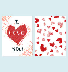 greeting card for st valentine s day i miss you vector image vector image