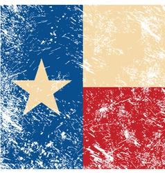 Texas retro flag vector image