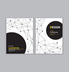 black network book cover vector image vector image