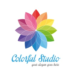 Colorful creative logo vector image