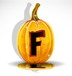 Halloween Pumpkin F vector image