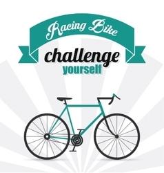 Racing bike design vector