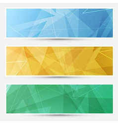 Collection of crystal structured cards vector image