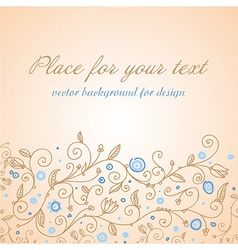 Cute pastel floral design vector